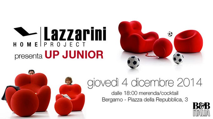 Aperitivo al Lazzarini Arredamento Bergamo. Scopri con noi la poltrona UP Junior!