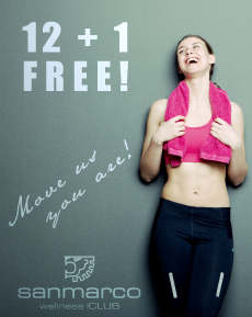 San Marco Welnness iCLUB 12+1 FREE