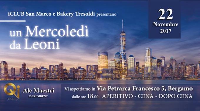 Serata 22 Novembre ICLUB San Marco E Backery Tresoldi