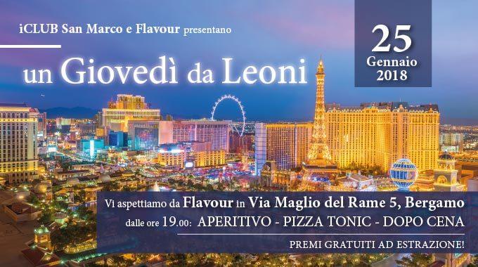 ICLUB San Marco E Flavour Ti Invitano Alla Serata Un Giovedì Da Leoni