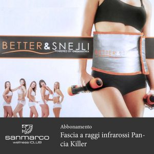 San Marco Wellness iCLUB Abbonamento Fascia a raggi infrarossi Pancia Killer