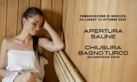 San Marco Wellness ICLUB Chiusura Saune E Chiusura Bagno Turco Da Disposizioni Covid